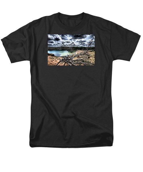 Dead Nature Under Stormy Light In Mediterranean Beach Men's T-Shirt  (Regular Fit) by Pedro Cardona