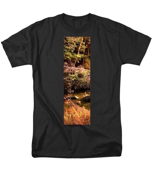 1 Of 6 Dead River Falls  Marquette Michigan Section Men's T-Shirt  (Regular Fit) by Michael Bessler