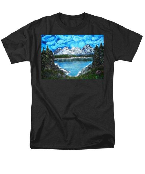 Deep Mountain Lake Men's T-Shirt  (Regular Fit)