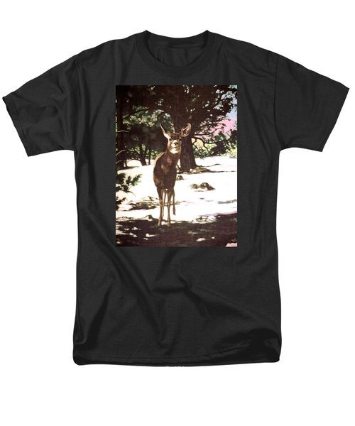 Deer In Snow Men's T-Shirt  (Regular Fit) by Vivien Rhyan