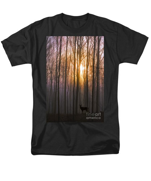 Deer In The Forest At Sunrise Men's T-Shirt  (Regular Fit) by Diane Diederich