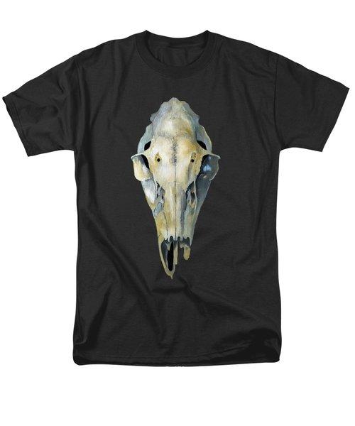 Deer Skull Aura Men's T-Shirt  (Regular Fit) by Catherine Twomey