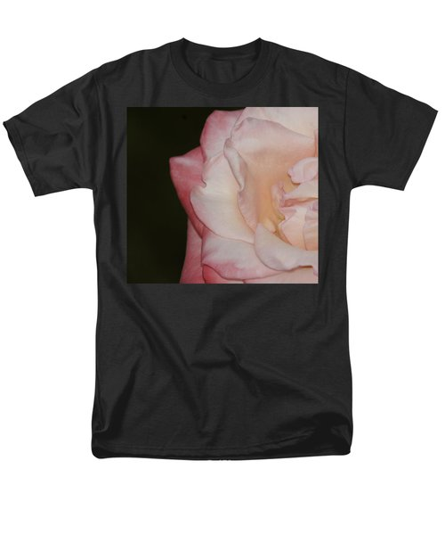 Delicate Pink Rose Men's T-Shirt  (Regular Fit) by Debra Crank