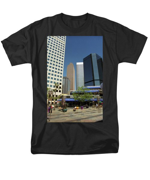 Men's T-Shirt  (Regular Fit) featuring the photograph Denver Architecture by Frank Romeo