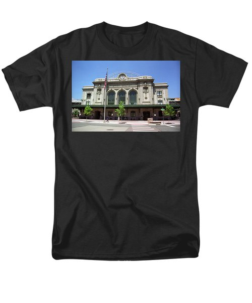Men's T-Shirt  (Regular Fit) featuring the photograph Denver - Union Station Film by Frank Romeo