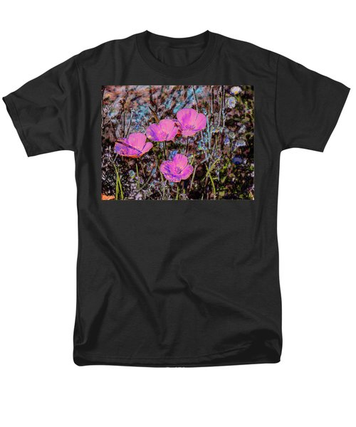 Men's T-Shirt  (Regular Fit) featuring the photograph Desert Flowers Abstract by Penny Lisowski