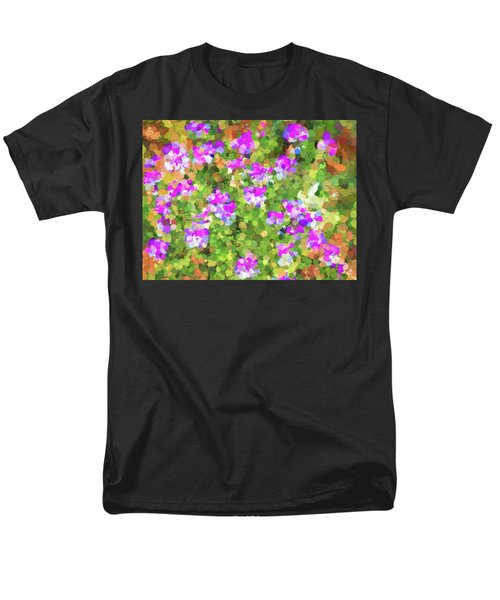 Desert Flowers In Abstract Men's T-Shirt  (Regular Fit) by Penny Lisowski