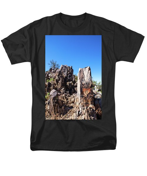 Desert Rocks Men's T-Shirt  (Regular Fit) by Ed Cilley