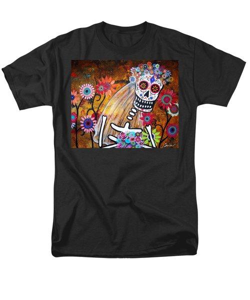 Men's T-Shirt  (Regular Fit) featuring the painting Desposada by Pristine Cartera Turkus
