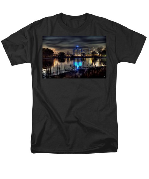 Detroit Reflections Men's T-Shirt  (Regular Fit) by Nicholas  Grunas