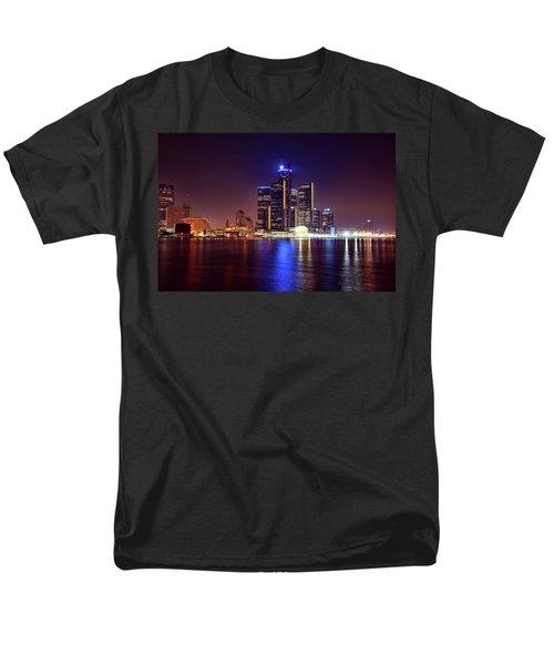 Detroit Skyline 4 Men's T-Shirt  (Regular Fit) by Gordon Dean II