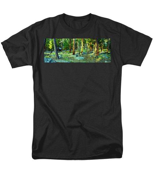 Devils Tower Morning Men's T-Shirt  (Regular Fit) by Dave Luebbert