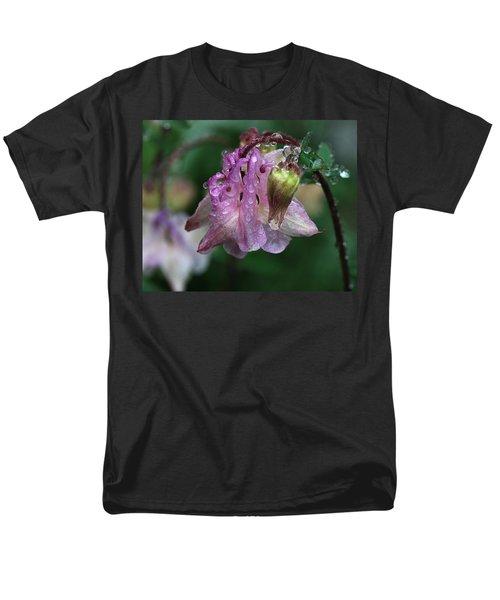 Men's T-Shirt  (Regular Fit) featuring the photograph Dewey Morning Columbine by Susan Capuano