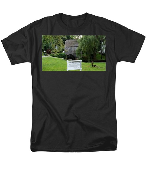 Men's T-Shirt  (Regular Fit) featuring the painting Dexter's Grist Mill by Rod Jellison