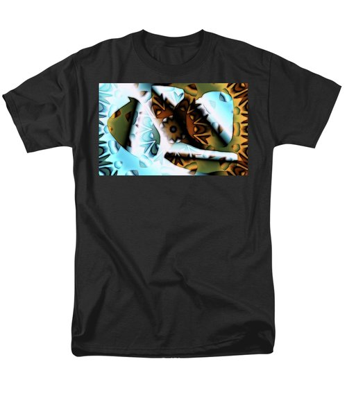 Men's T-Shirt  (Regular Fit) featuring the digital art Discontinuous Permafrost by Ron Bissett