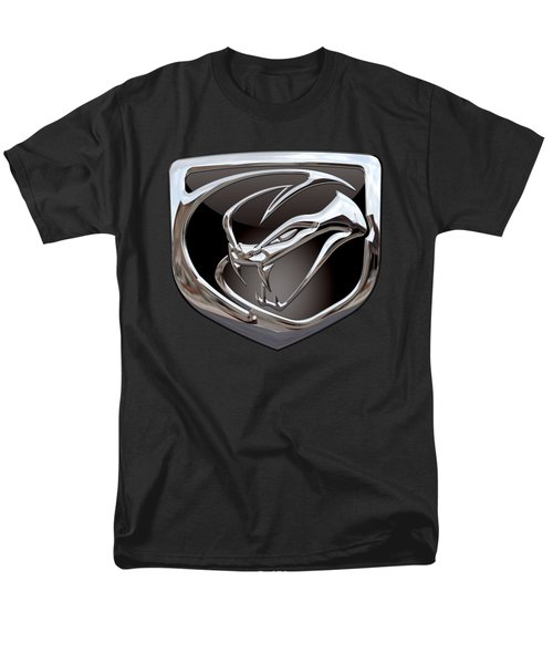 Dodge Viper - 3d Badge On Black Men's T-Shirt  (Regular Fit) by Serge Averbukh