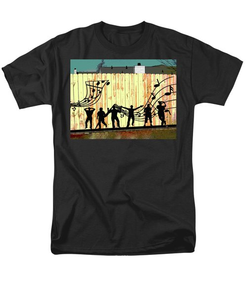 Don't Fence Me In Men's T-Shirt  (Regular Fit) by Charles Shoup
