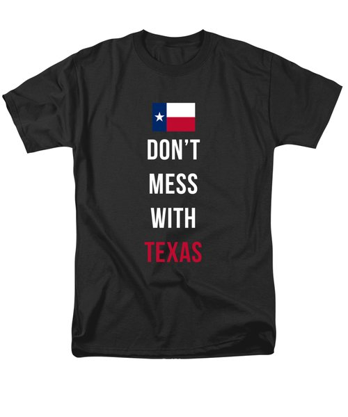Don't Mess With Texas Tee Black Men's T-Shirt  (Regular Fit) by Edward Fielding