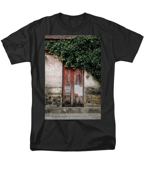 Men's T-Shirt  (Regular Fit) featuring the photograph Door Covered With Ivy by Marco Oliveira