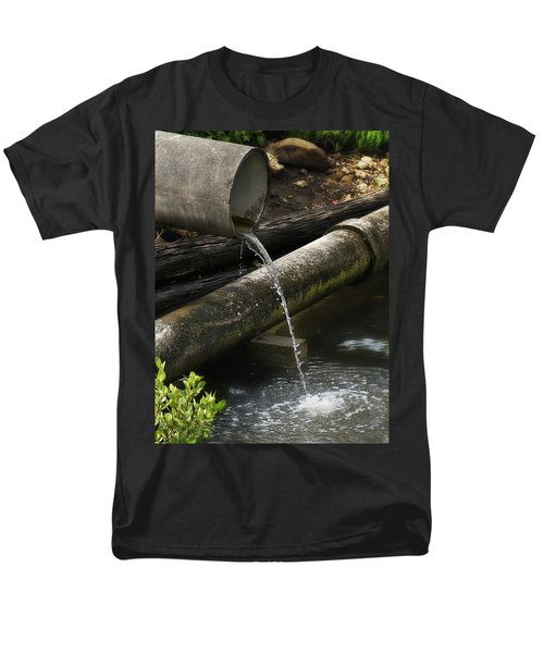 Men's T-Shirt  (Regular Fit) featuring the photograph Down The Pipe Line 01 by Kevin Chippindall