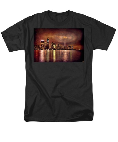 Downtown Manhattan September Eleventh Men's T-Shirt  (Regular Fit) by Chris Lord