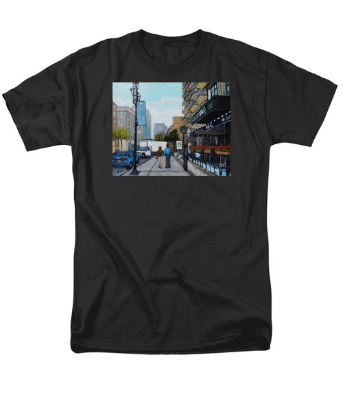 Downtown Montreal Men's T-Shirt  (Regular Fit) by Reb Frost