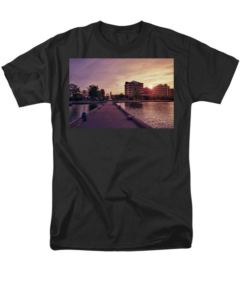 Men's T-Shirt  (Regular Fit) featuring the photograph Downtown Neenah Sunset by Joel Witmeyer