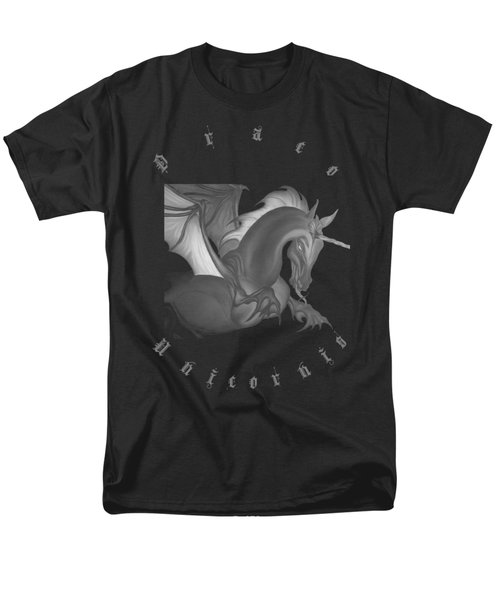 Men's T-Shirt  (Regular Fit) featuring the drawing Dragon Unicorn  by Robert G Kernodle