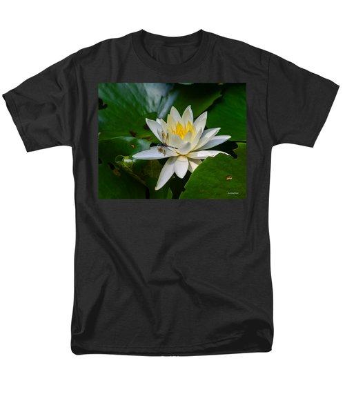 Dragonfly On Waterlily  Men's T-Shirt  (Regular Fit) by Allen Sheffield