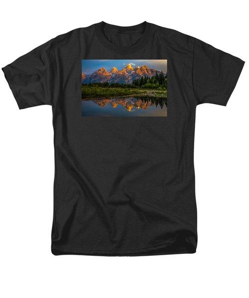 Men's T-Shirt  (Regular Fit) featuring the photograph Dramatic Grand Teton Sunrise by Serge Skiba