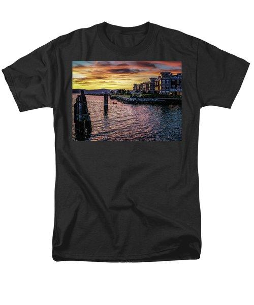 Dramatic Hudson River Sunset Men's T-Shirt  (Regular Fit) by Jeffrey Friedkin