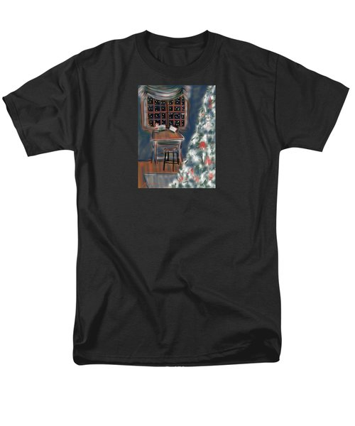 Men's T-Shirt  (Regular Fit) featuring the painting Drawing Board At Christmas by Jean Pacheco Ravinski