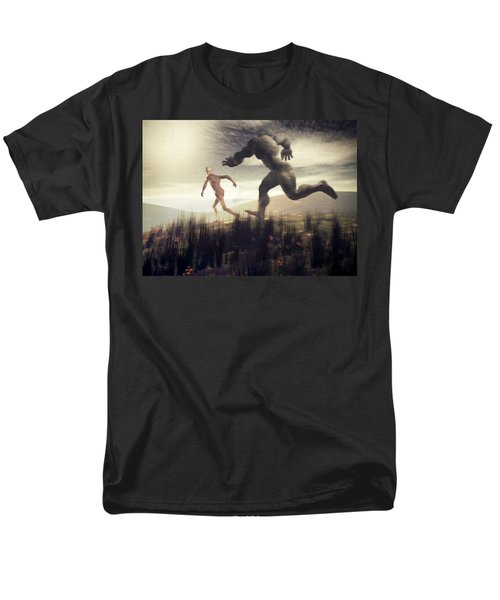 Men's T-Shirt  (Regular Fit) featuring the digital art Dreaming Of A Nameless Fear by John Alexander