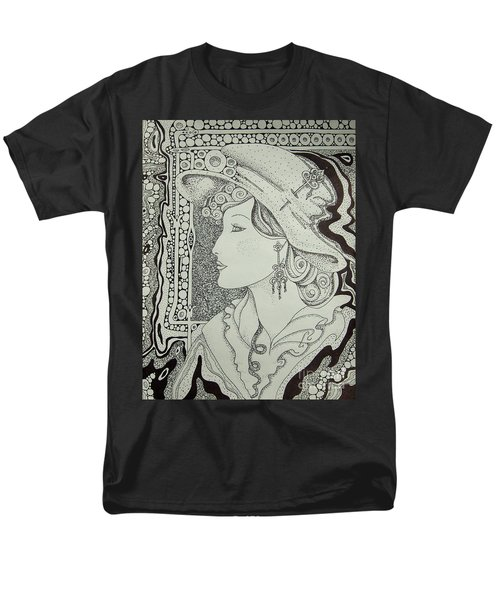 Men's T-Shirt  (Regular Fit) featuring the drawing Dreaming Of Another Time by Tamyra Crossley