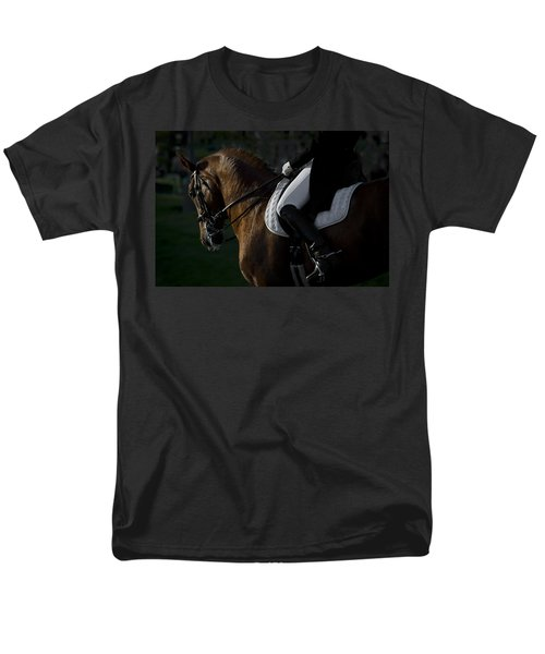 Men's T-Shirt  (Regular Fit) featuring the photograph Dressage D5284 by Wes and Dotty Weber