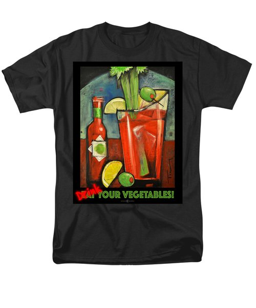 Drink Your Vegetables Poster Men's T-Shirt  (Regular Fit) by Tim Nyberg