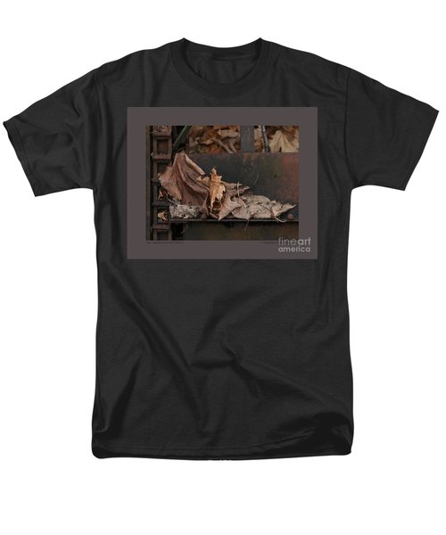 Dry Leaves And Old Steel-i Men's T-Shirt  (Regular Fit) by Patricia Overmoyer