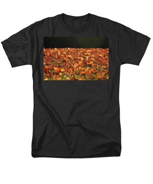 Men's T-Shirt  (Regular Fit) featuring the photograph Dry Maple Leaves Covering The Ground by Emanuel Tanjala