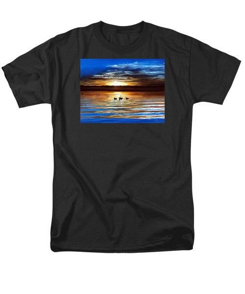 Ducks On Clear Lake Men's T-Shirt  (Regular Fit) by Linda Becker