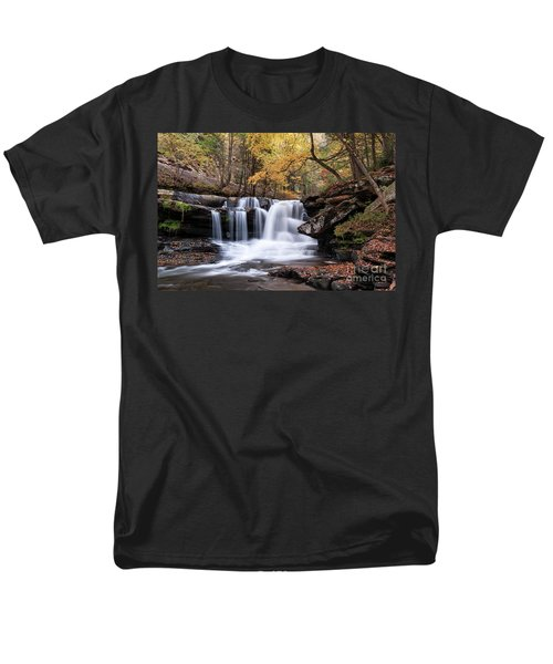 Men's T-Shirt  (Regular Fit) featuring the photograph Dunloup Falls - D009961 by Daniel Dempster