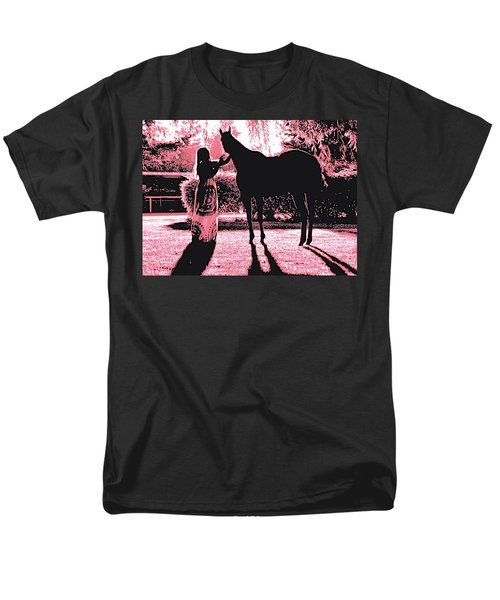 Dylly And Lizzy Pink Men's T-Shirt  (Regular Fit)