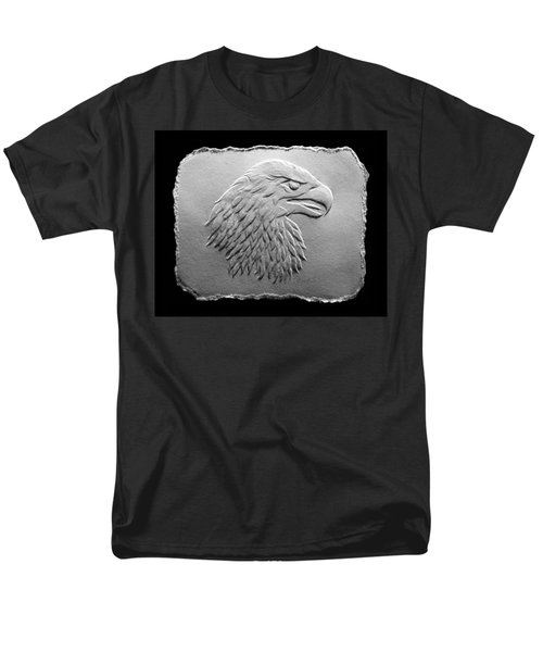 Eagle Head Relief Drawing Men's T-Shirt  (Regular Fit)