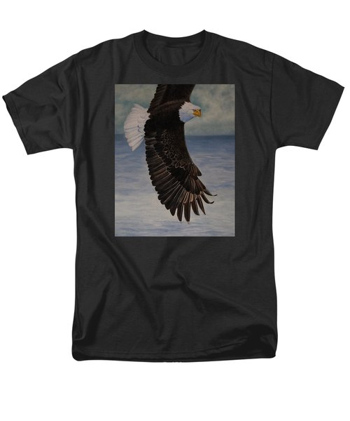 Eagle - Low Pass Turn Men's T-Shirt  (Regular Fit) by Roena King