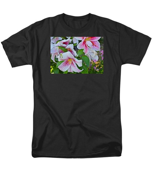 Early August Tumble Of Lilies Men's T-Shirt  (Regular Fit) by Janis Nussbaum Senungetuk