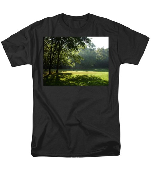 Men's T-Shirt  (Regular Fit) featuring the photograph Early Morning Meadow by Cynthia Lassiter
