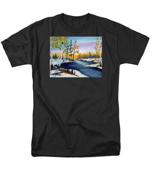 Early Snow Fall Men's T-Shirt  (Regular Fit) by Jack G Brauer