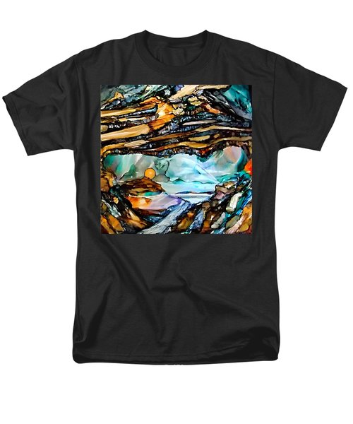 Earth Day Underground Paradise Alcohol Inks Men's T-Shirt  (Regular Fit)
