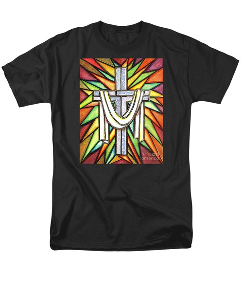 Men's T-Shirt  (Regular Fit) featuring the painting Easter Cross 5 by Jim Harris