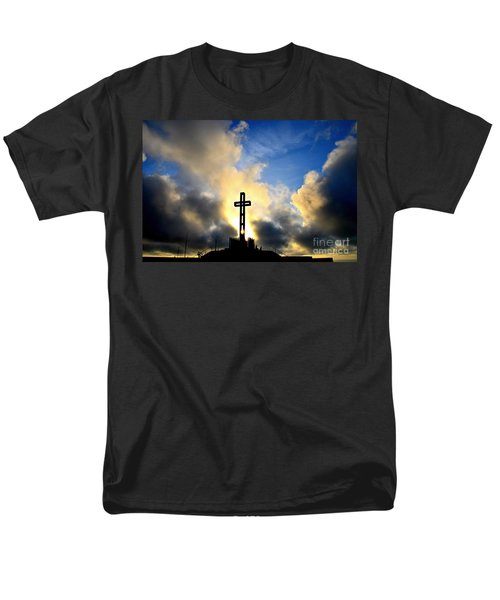 Easter Cross Men's T-Shirt  (Regular Fit) by Sharon Soberon