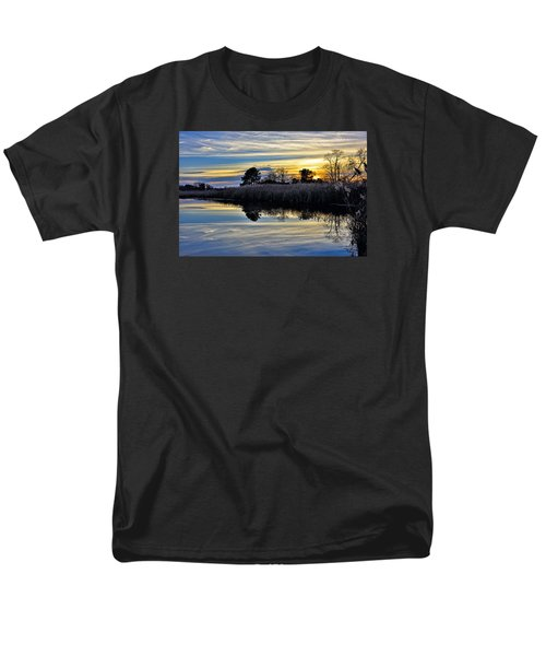 Men's T-Shirt  (Regular Fit) featuring the photograph Eastern Shore Sunset - Blackwater National Wildlife Refuge - Maryland by Brendan Reals